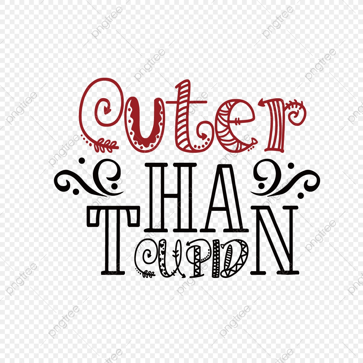 Black Than Cupid Cute Phrase Svg Art Word Font Effect Eps For Free Download