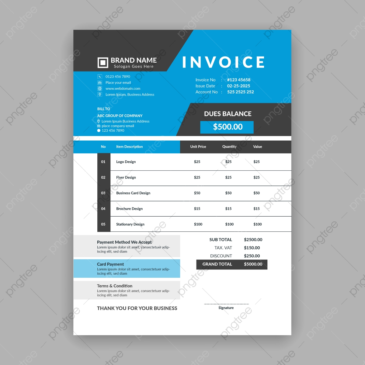 Invoice Png Vector Psd And Clipart With Transparent Background For Free Download Pngtree