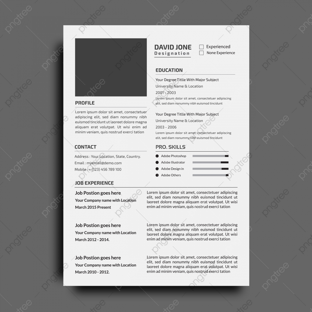 Free Professional Cv Template Word from png.pngtree.com