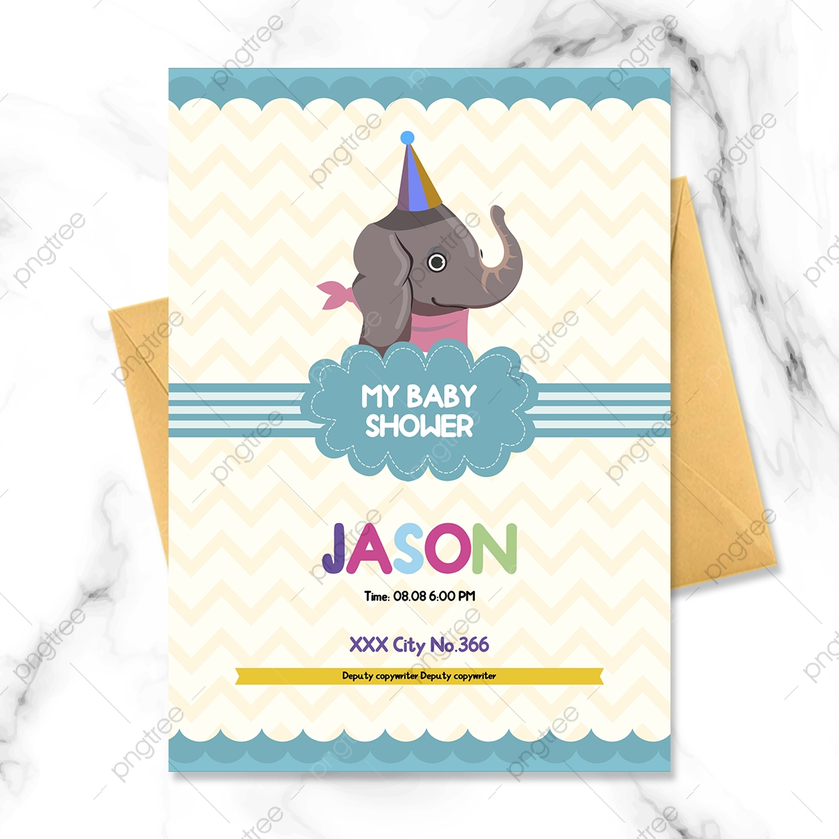 Fresh Cartoon Colorful Baby Elephant Welcome Party Invitation Template Download On Pngtree It can be downloaded in best resolution and used for design and web design. pngtree