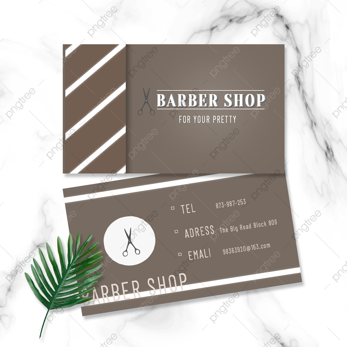 Hair Salon Barber Business Card Template Download On Pngtree