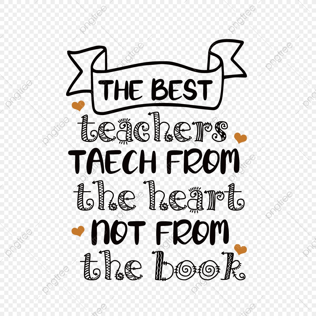 Handwritten Black Best Teacher Teaches Simple Phrases From The Heart Svg Font Effect Eps For Free Download