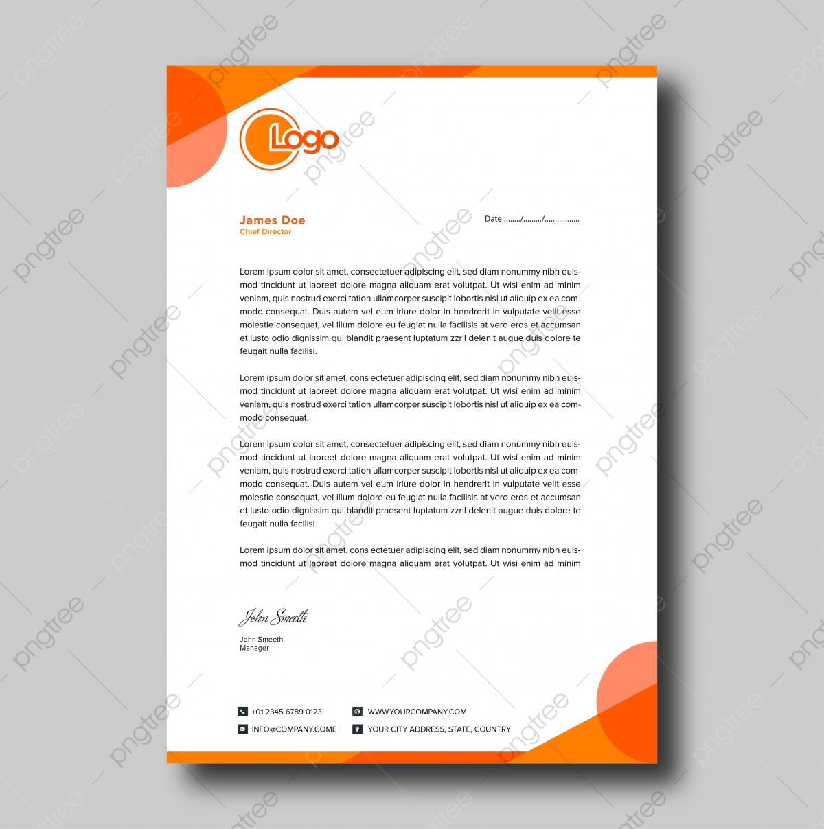 Letterhead Or Letter Head from png.pngtree.com