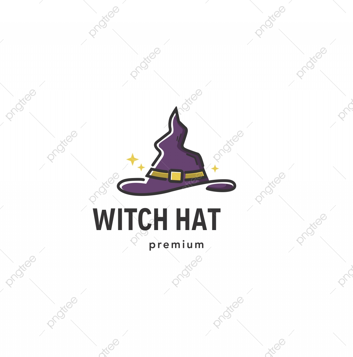 Magic Witch Hat Logo With Sparkles Halloween Sign Icon Vector Template Template For Free Download On Pngtree