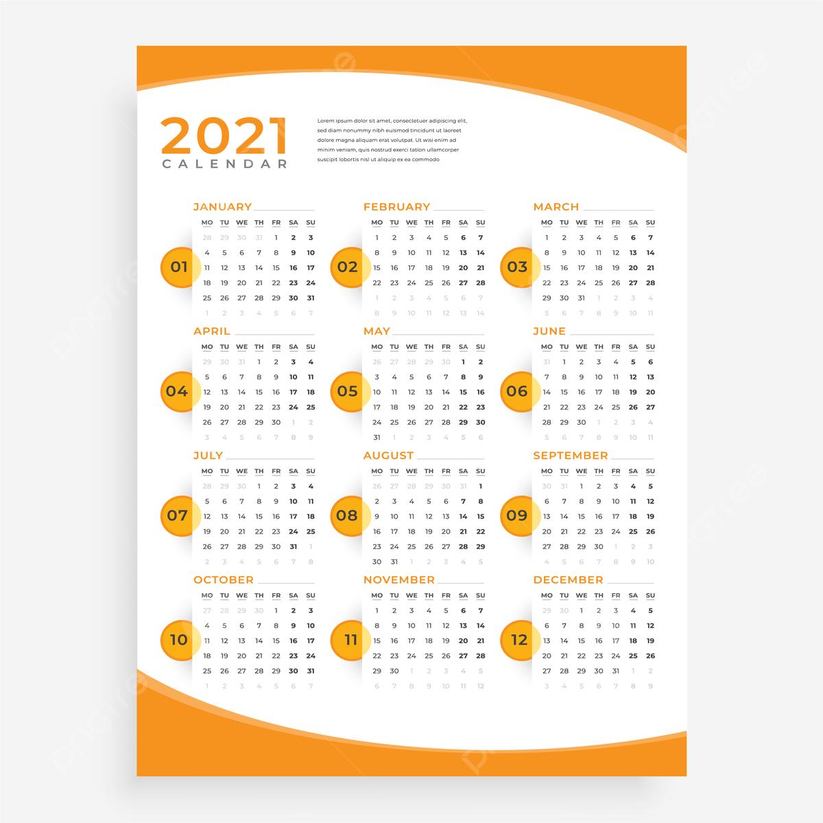 Une Page Mur Calendrier 2021 Mur Calendrier 2021 Calendrier 2021