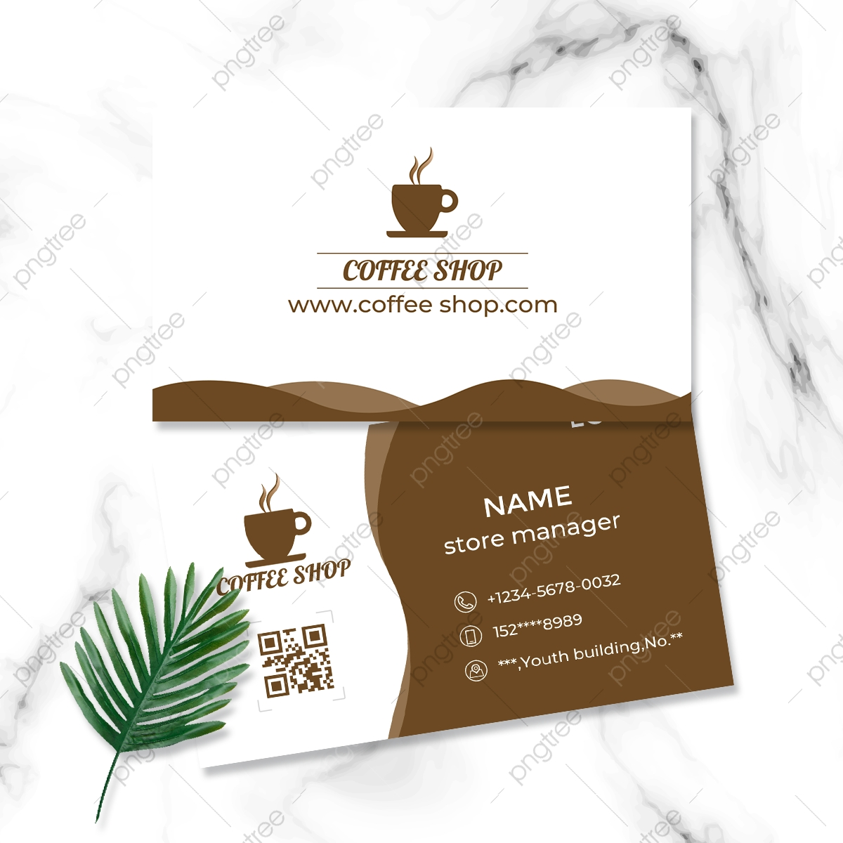 Simple High End Coffee House Business Card Design Template Within Coffee Business Card Template Free