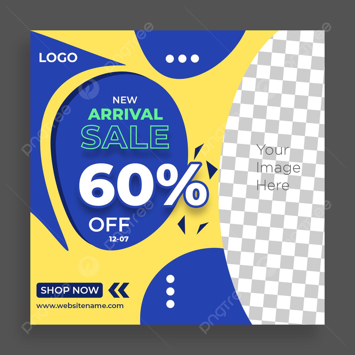 Social Media Post Sale Banner Biru Kuning Template Warna Social Media Instagram Postingan Untuk Promosi Penjualan Templat Untuk Unduh Gratis Di Pngtree