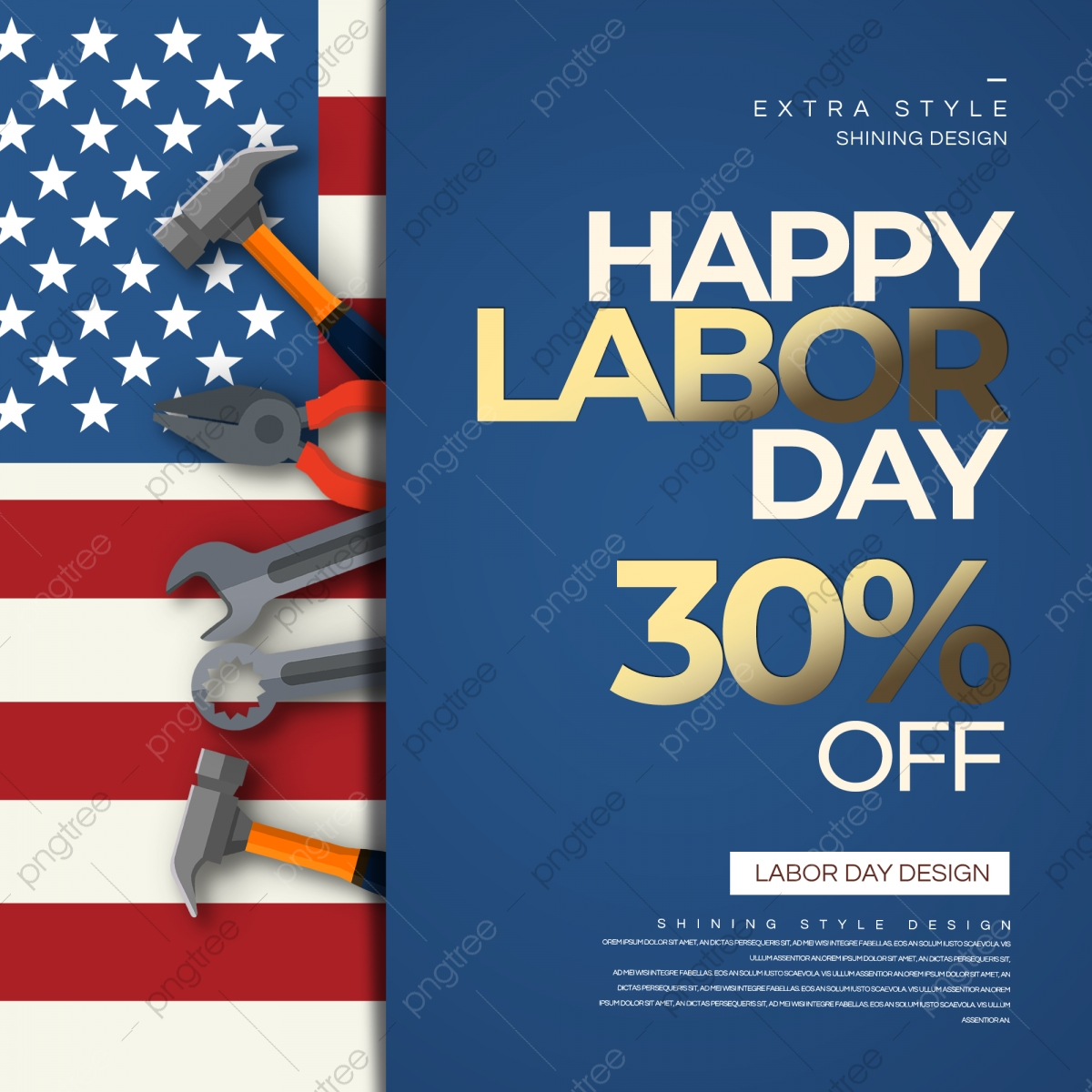 Trend Fashion Style American Labor Day Promotion Sns Template Download On Pngtree