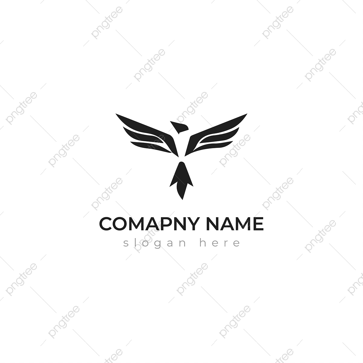 Unique Crow Logo Template, Geometric, Nature, Cartoon PNG and ...