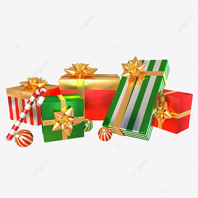 3d christmas holiday gift box