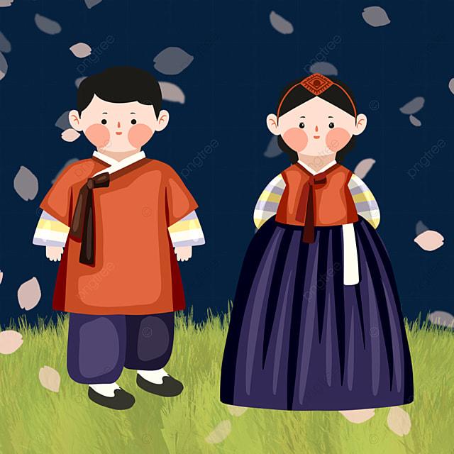 color hanbok character elements