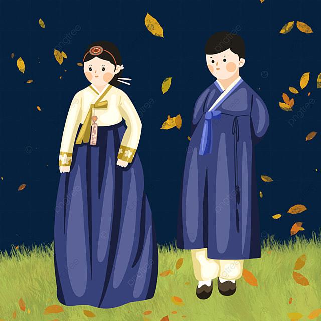 cute hanbok character elements