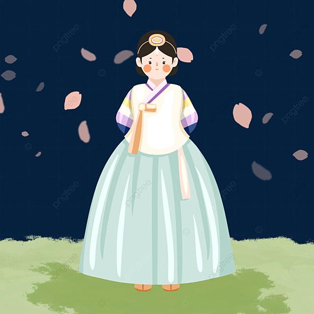 cute hanbok female elements