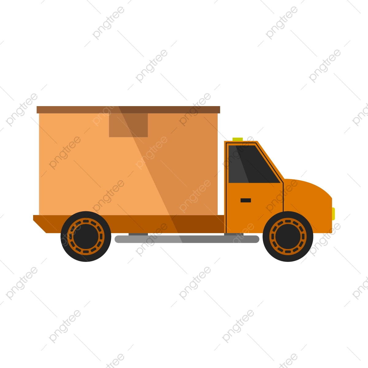 7+ Truck Clipart - Preview : Yellow-semi-trail | HDClipartAll