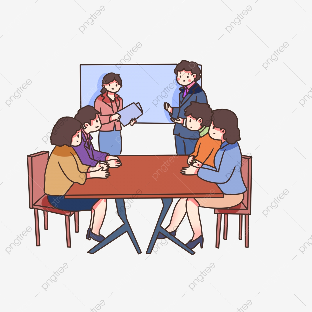 Cartoon Discussion Png