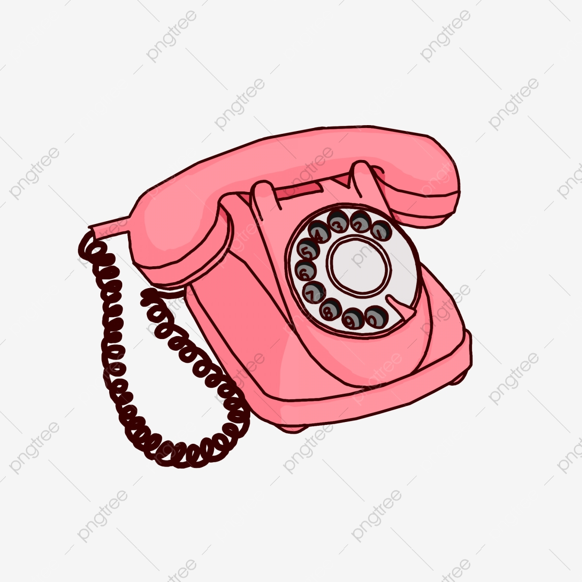 Pink Telephone Clipart , Free Transparent Clipart - ClipartKey