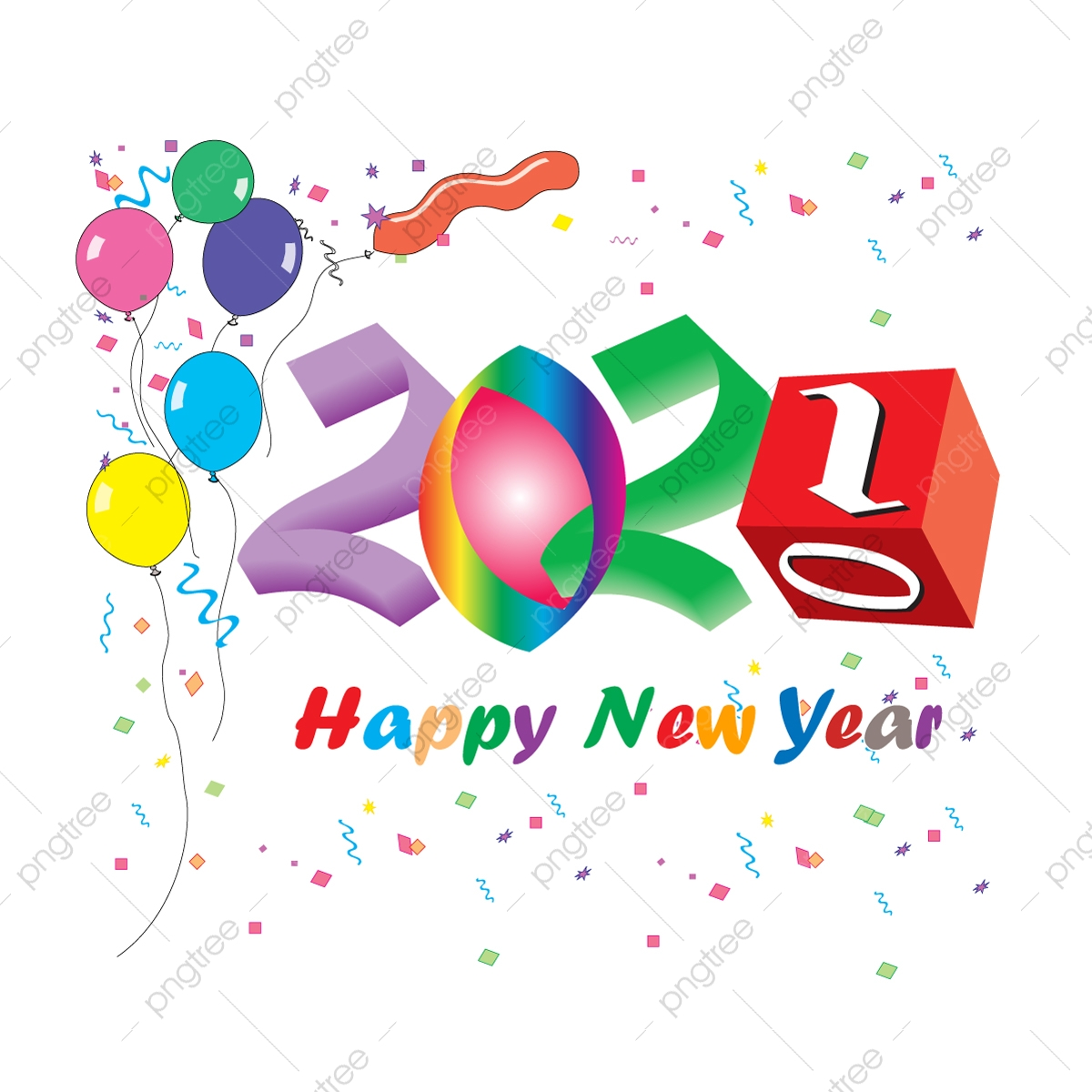 Happy New Year 2021 Celebrate Celebration Communication Png And Vector With Transparent Background For Free Download