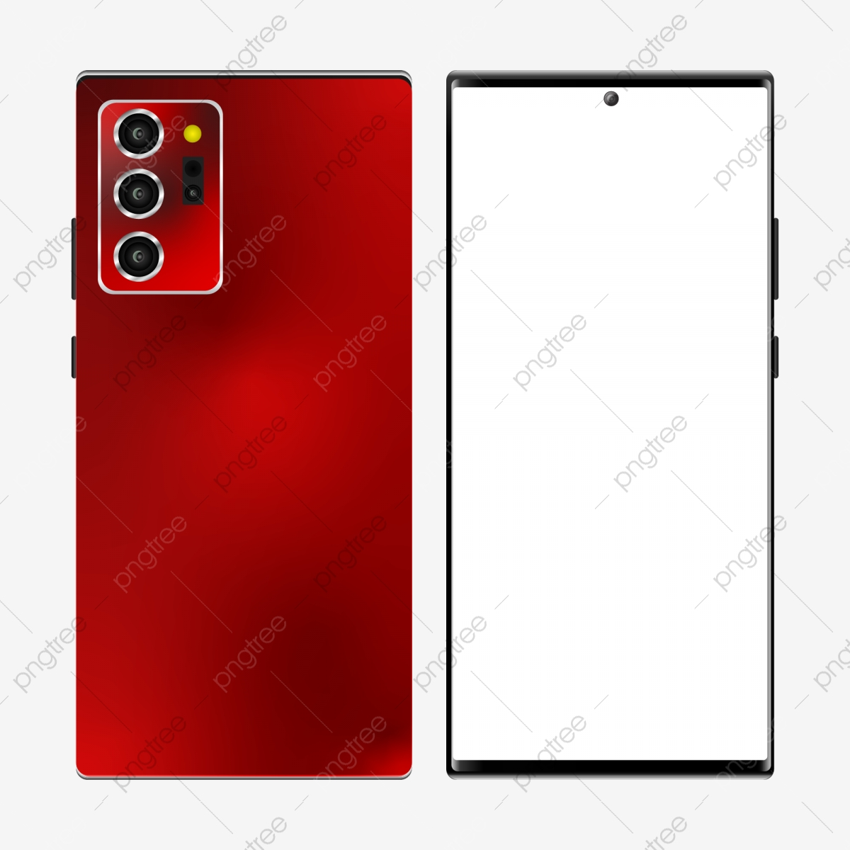 Mockup Samsung Galaxy Note 20 In Red Color Template Technology New Png And Vector With Transparent Background For Free Download