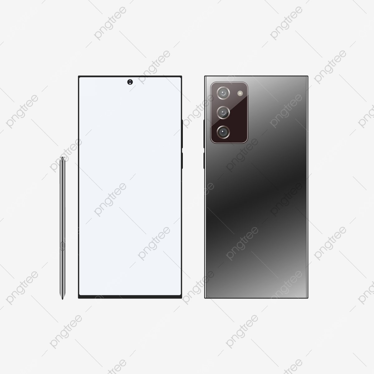 New Black Samsung Galaxy Note 20 Ultra Mockup Vector Illustration New Black Samsung Png And Vector With Transparent Background For Free Download