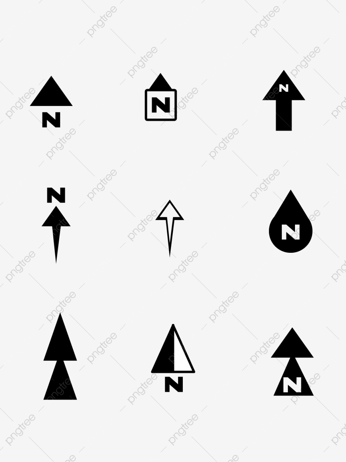 North Arrow Png Images Vector And Psd Files Free Download On Pngtree