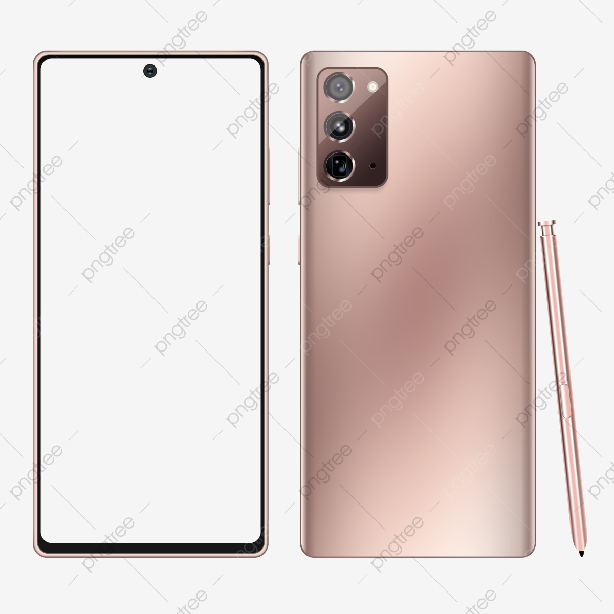 Samsung Galaxy Note 20 Mockup Mystic Bronze Color Editable Psd Front And Back View With Pen Editable Psd Mockups Png Transparent Clipart Image And Psd File For Free Download