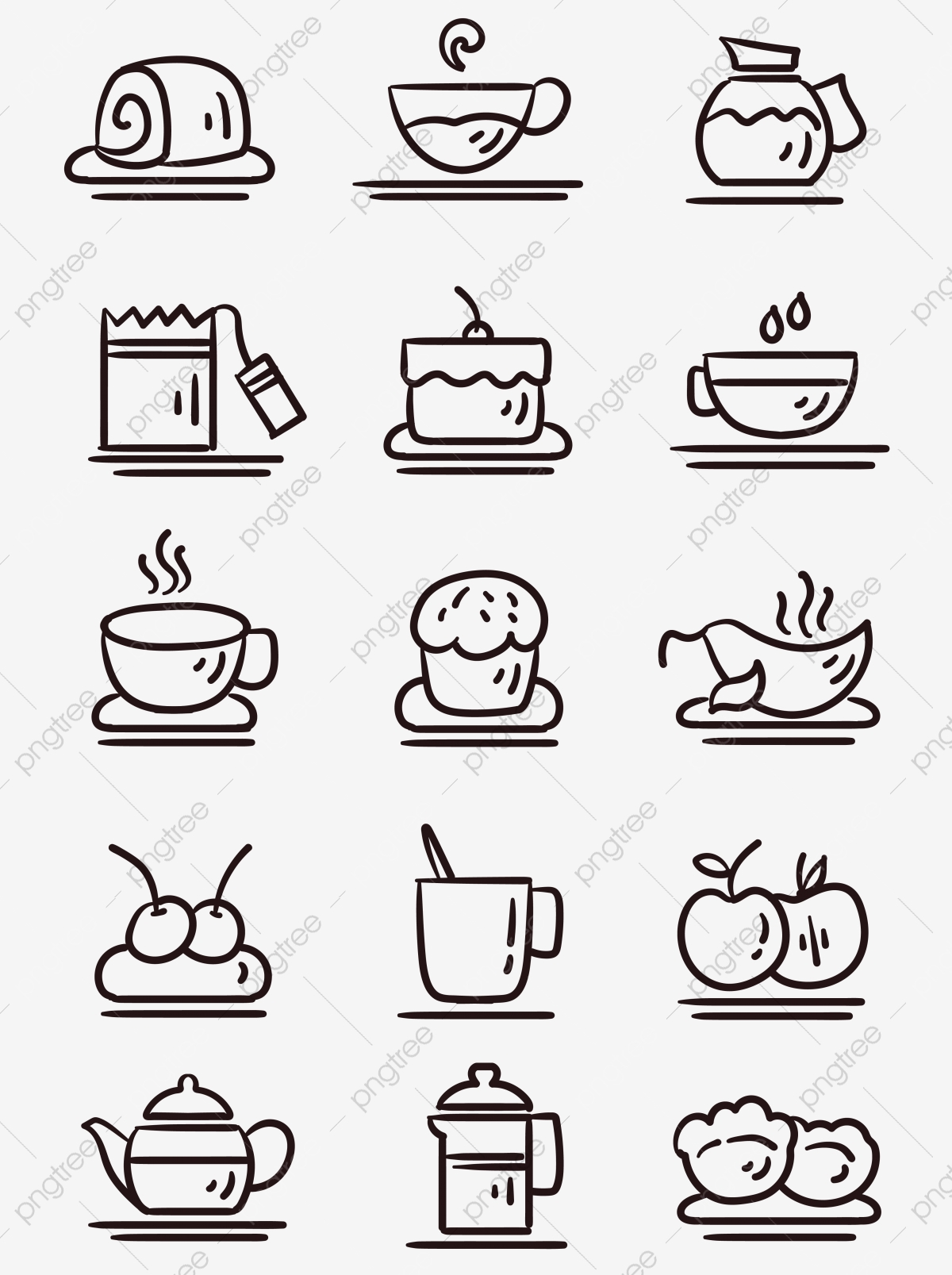 black and white creative afternoon tea icon element icon cup png and vector with transparent background for free download https pngtree com freepng black and white creative afternoon tea icon 5462715 html