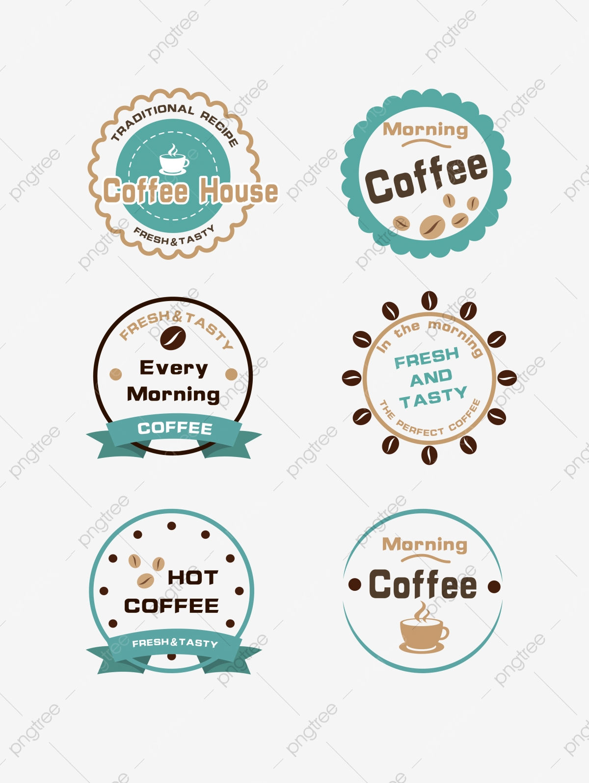 Exquisite Coffee Logo Design Material Creativity English Round Png And Vector With Transparent Background For Free Download