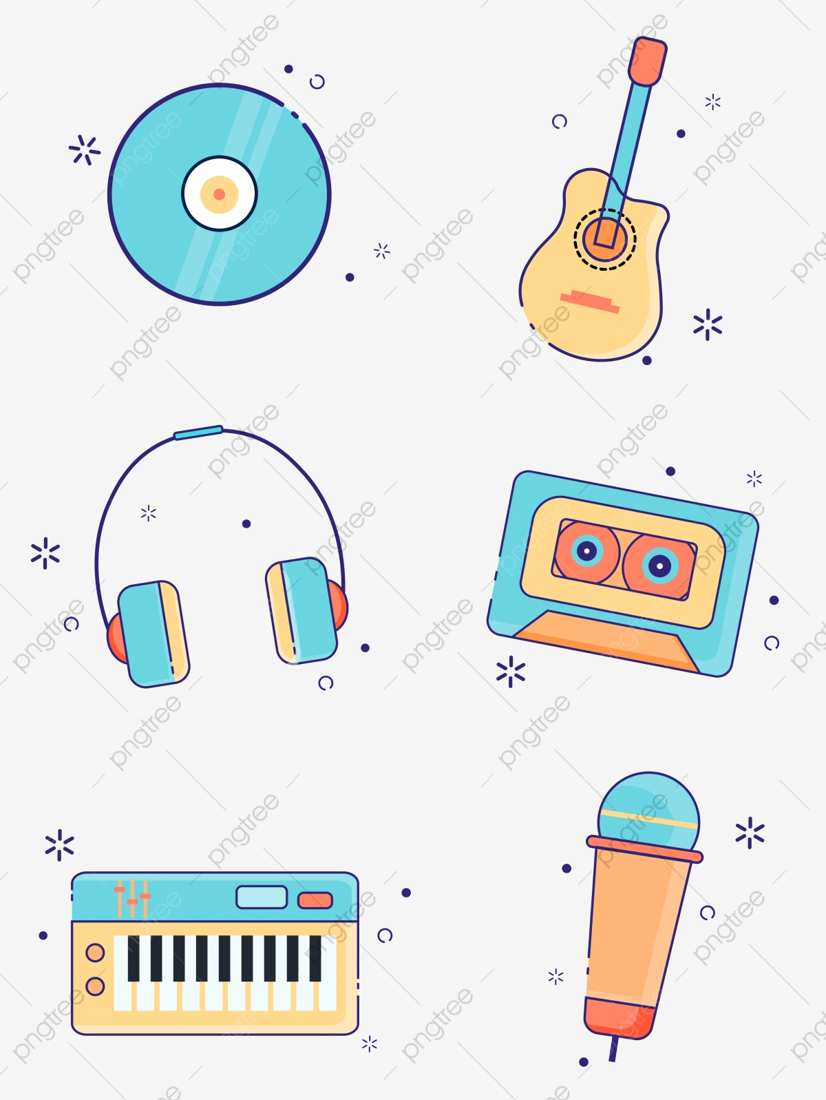 Mbe Cute Music Instrument Icon Design Cartoon Lovely Mbe Png And Vector With Transparent Background For Free Download