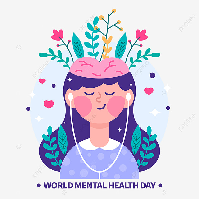 Vector Illustration Hand Drawn Design Elements For World Mental Health Day World Mental Health Day World Mental Health Day Element World Png Transparent Clipart Image And Psd File For Free Download
