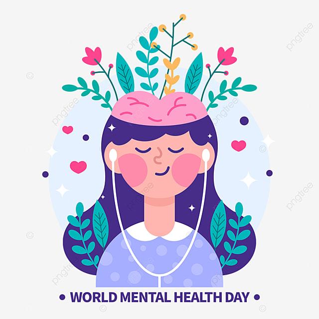Ilustrasi Vektor Elemen Desain Yang Digambar Tangan Untuk Hari Kesehatan Mental Sedunia Hari Kesehatan Mental Sedunia Hari Kesehatan Mental Sedunia Dunia Elemen Png Transparan Gambar Clipart Dan File Psd Untuk Unduh Gratis