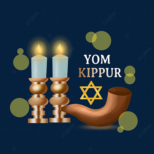 yom kippur hand painted candle pipe