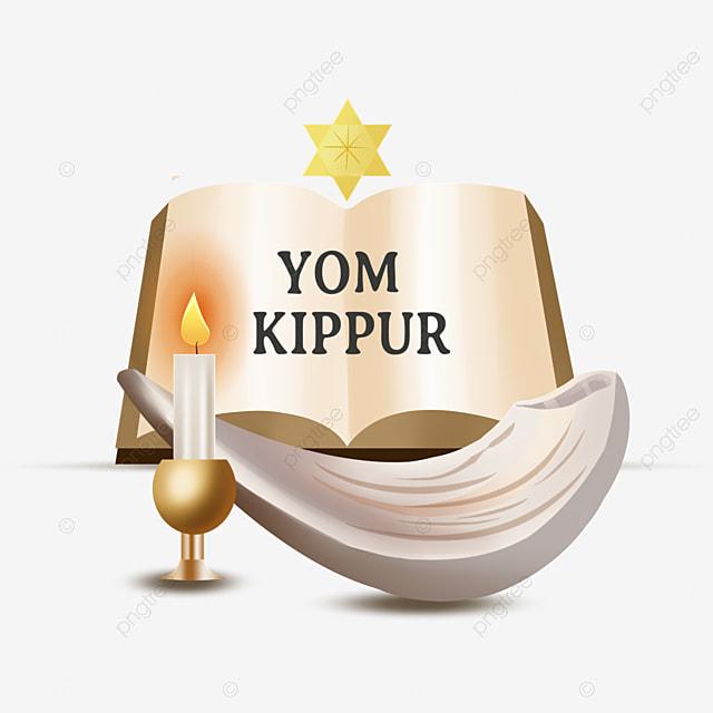 yom kippur retro book elements