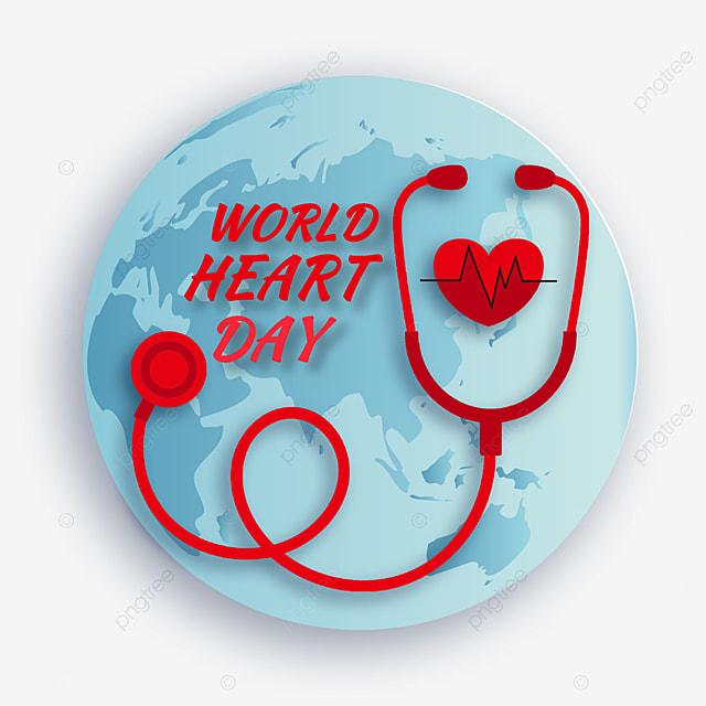 cartoon earth stethoscope world heart day