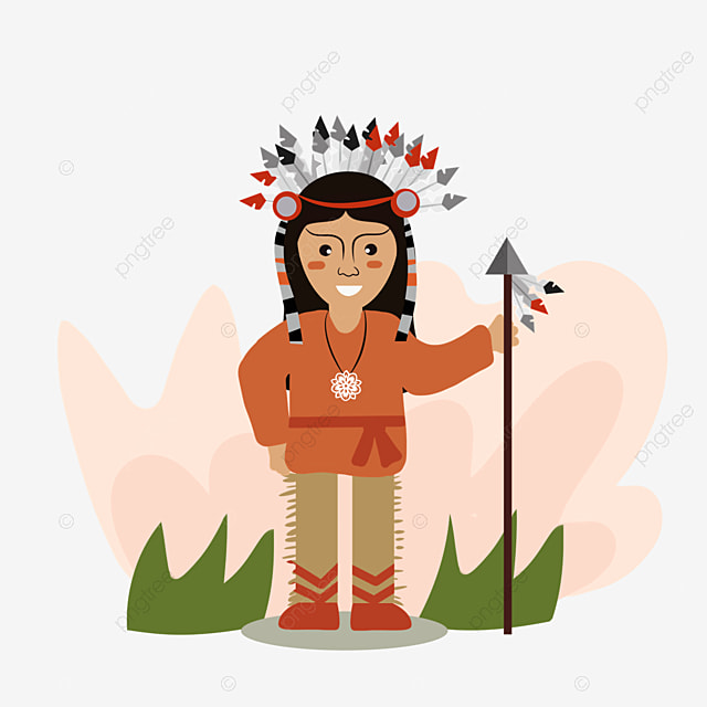 american indian cartoon original hand painted aborigines
