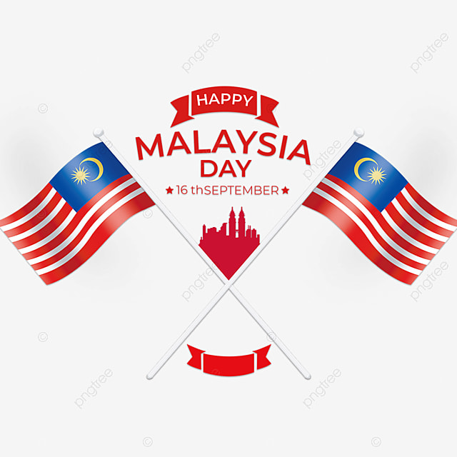 crossed flag malaysia day