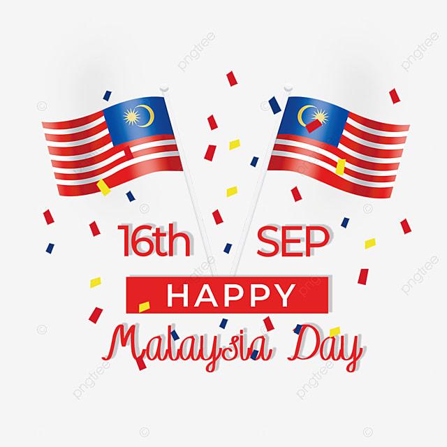 flag ribbon element malaysia day