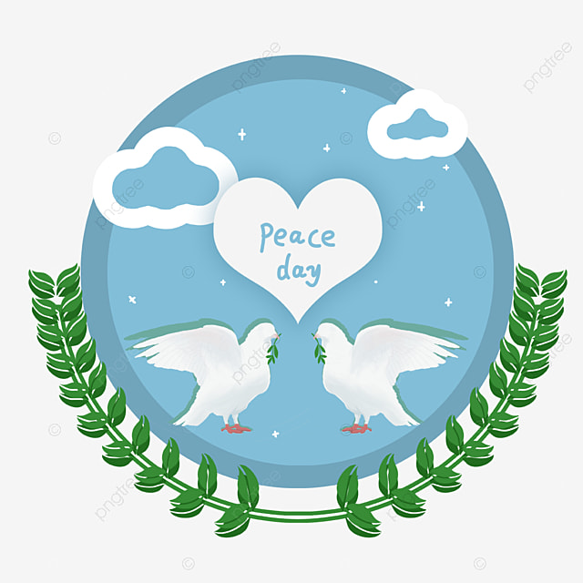 hand drawn world peace day elements