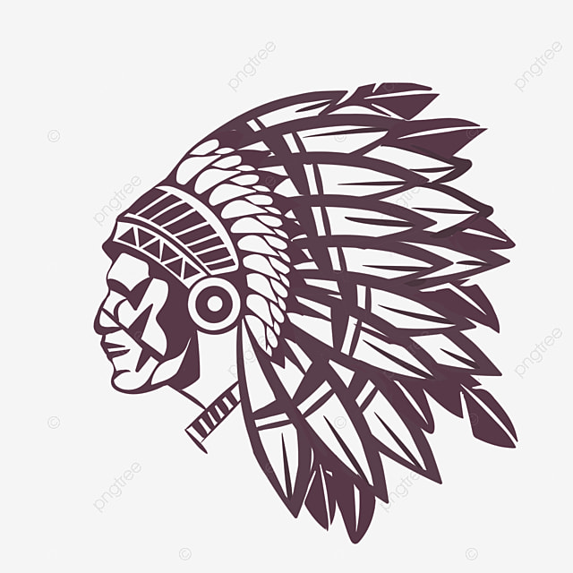 american indian line drawing hand drawn aboriginal characters