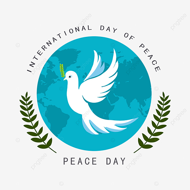 world peace day peace dove elements