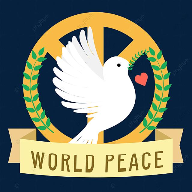 hand drawn peace dove world peace day