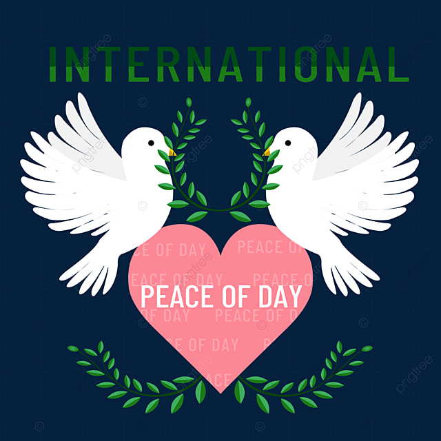 hand drawn world peace day peace dove olive branch