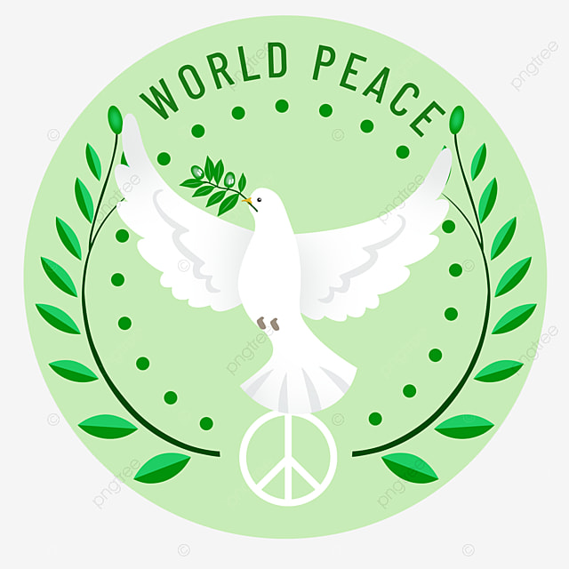 hand painted world peace day peace dove holding olive branch