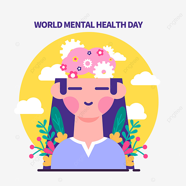 Elemen Desain Gambar Tangan Hari Kesehatan Mental Sedunia Kesehatan Mental Psikologis Kesadaran Png Transparan Gambar Clipart Dan File Psd Untuk Unduh Gratis