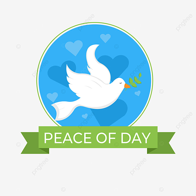peace dove festival cartoon elements