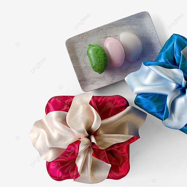 korean traditional festival gift box 3d elements
