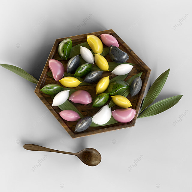 a plate of year pastry dessert 3d elements