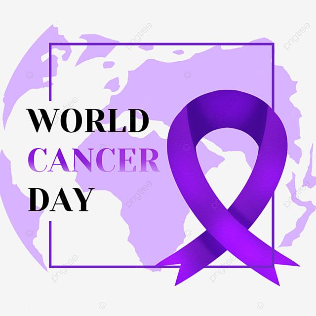 world cancer day earth medical festival purple ribbon