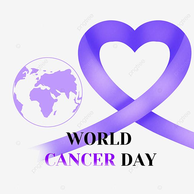 earth world cancer day purple ribbon