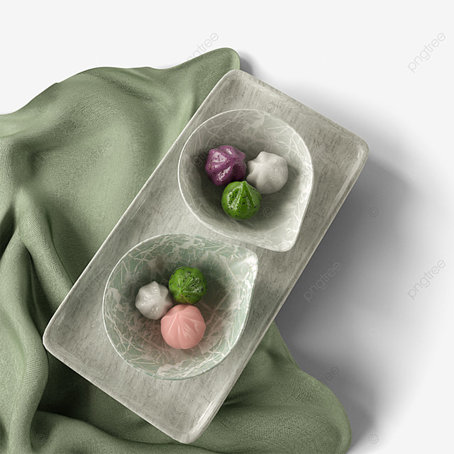 green year pastry dessert 3d element