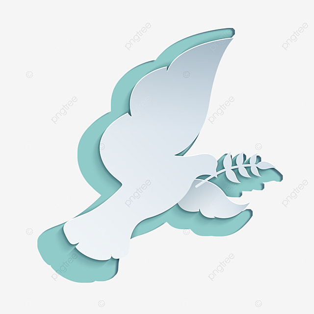 international day of peace abstract flat style white dove